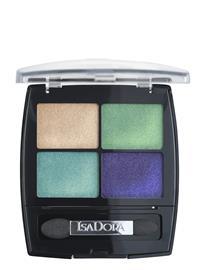 Isadora Eye Shadow Quartet 016 Palmbeach Beauty WOMEN Makeup Eyes Eyeshadow Palettes Monivärinen/Kuvioitu Isadora 016 PALMBEACH, Meikit, kosmetiikka ja ihonhoito