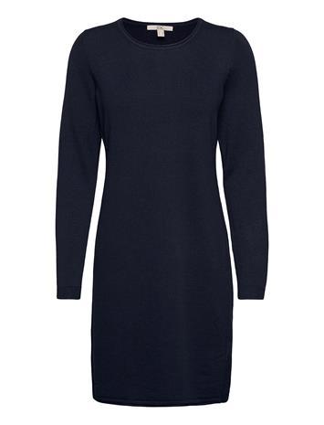 EDC by Esprit Dresses Flat Knitted Polvipituinen Mekko Sininen EDC By Esprit NAVY