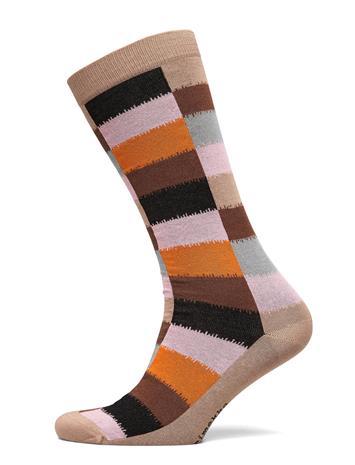 Marimekko Salla Hirsi Socks Lingerie Hosiery Knee High Socks Beige Marimekko LIGHT BEIGE, MULTICOLORED