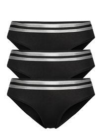 Danish Endurance Organic Cotton Bikini Briefs By Pernille Blume 3 Pack Alushousut Brief Tangat Musta Danish Endurance BLACK
