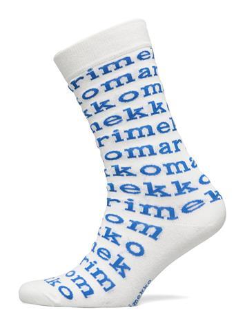 Marimekko Salla Logo Socks Lingerie Hosiery Socks Valkoinen Marimekko WHITE, BLUE