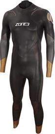 Zone3 Thermal Aspire Wetsuit Men, black/grey/gold/red