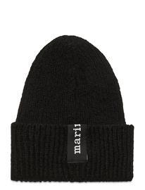 Marimekko Paaso Beanie Accessories Headwear Beanies Musta Marimekko BLACK