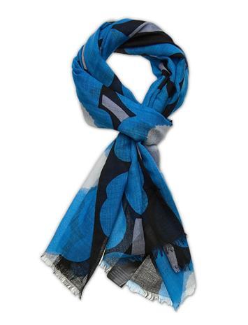 Marimekko Fiore Pieni Unikko Scarf Huivi Monivärinen/Kuvioitu Marimekko BLACK, BLUE, OFF-WHITE