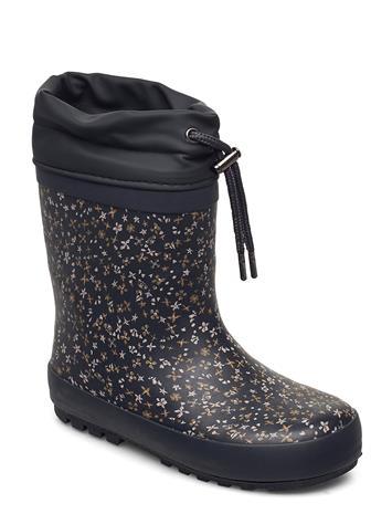 Wheat Thermo Rubber Boots Kumisaappaat Sininen Wheat GREYBLUE FLOWERS