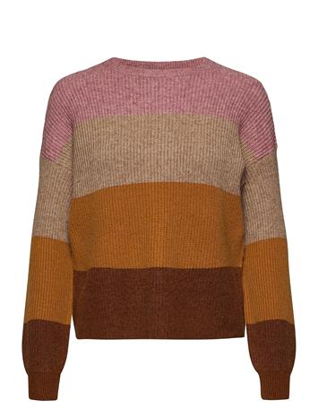 ONLY Onlsandy L/S Stripe Pullover Cc Knt Neulepaita Vaaleanpunainen ONLY DUSTY ROSE