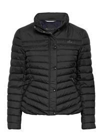 GANT Light Down Jacket Vuorillinen Takki Topattu Takki Musta GANT BLACK, Naisten ulkovaatteet
