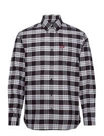 Fred Perry Tartan Oxford Shirt Paita Rento Casual Harmaa Fred Perry WHITE
