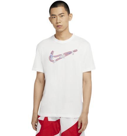 Nike M NK DRY MEDALLION SWOSH TEE WHITE