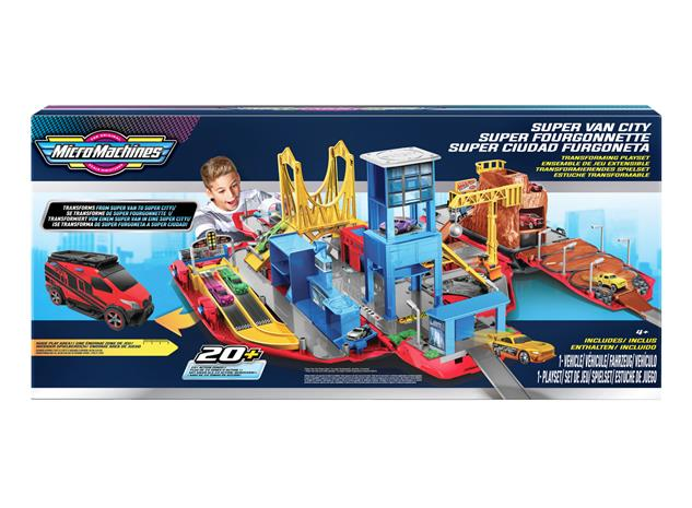 Micro Machines Super Van City -leikkisetti, iso
