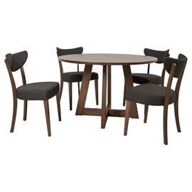 Ruokailuryhmä ADELE 4 tuolilla (21923), tumma pyökki