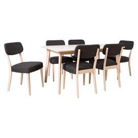Ruokailuryhmä ADORA 6 tuolilla (21926), vaalea pyökki