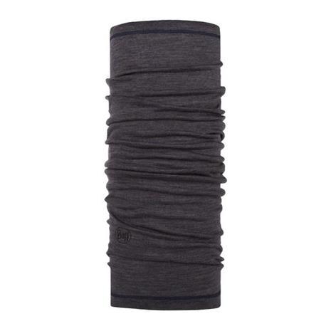 Buff Light Weight Merino Charcoal Grey Multi Stripes tuubihuivi