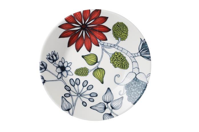 Arabia Runo Kesäsäde 16,5 cm kahvikupin vati, Lautaset, kulhot ja tarjoiluastiat
