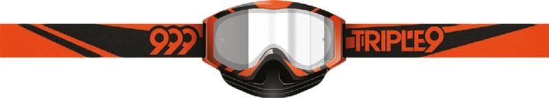 Triple 9 Saint Blaze Orange / Black Clear Lens With Tear Off Pins ajolasit