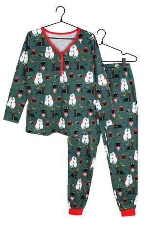 Muumi Vaarallinen talvi naisten pyjama