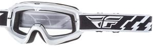 Fly Racing Focus Youth white clear ajolasit