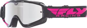 Fly Racing Zone Youth black/pink chrome ajolasit