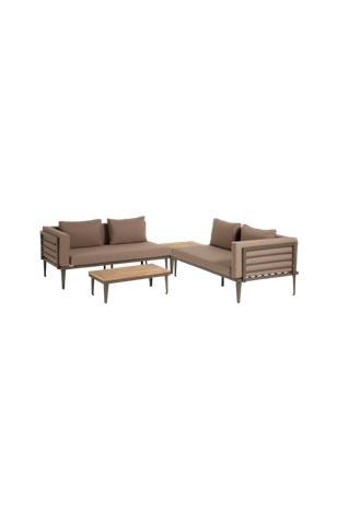 Kave Home Kalustesarja sohva, sohvapöytä ja sivupöytä Pascale