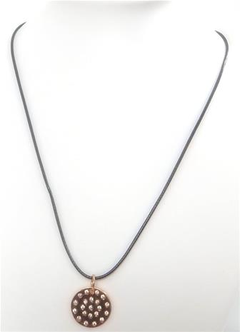 VÅGA Halsband Roseguld | Läder