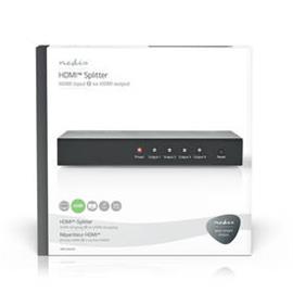 HDMI™-Jakaja | 4-Porttinen, 1 x HDMI™-Tulo | 4 x HDMI™-Lähtö