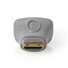 HDMI-Sovitin | HDMI Mini -Liitin - HDMI, Naaras | Harmaa