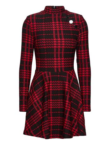 GUESS Jeans Majda Dress Polvipituinen Mekko Musta GUESS Jeans BLACK AND RED CHE