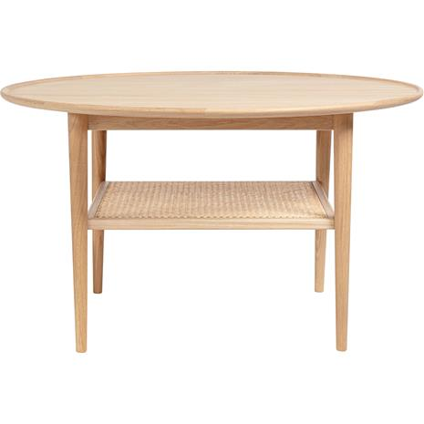 Haslev Haslev-Athene Coffee Table White oiled Oak / Rattan
