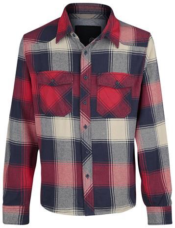 Brandit - Checkshirt - Flanellipaita - Miehet - Punainen antrasiitti beige