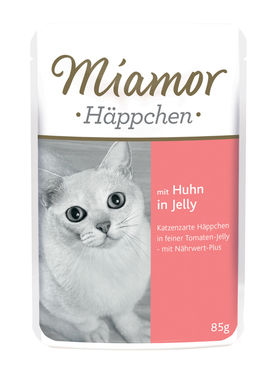 Miamor Häppchen kana 85 g hyytelössä annospussi