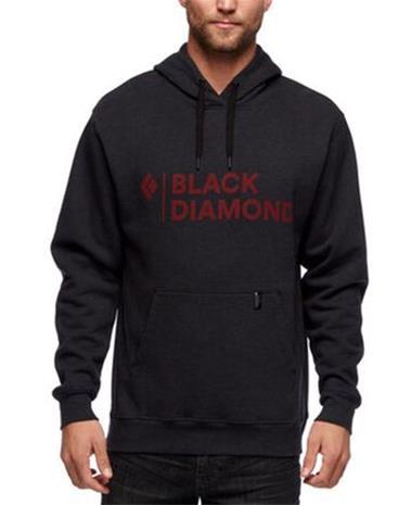 Black Diamond Stacked Logo Hoody - Paita - XL