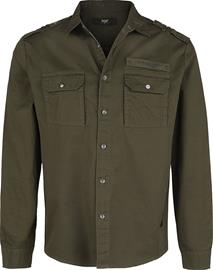 Black Premium by EMP - olives Hemd mit Brusttaschen im Military Style - Pitkähihainen kauluspaita - Miehet - Oliivi
