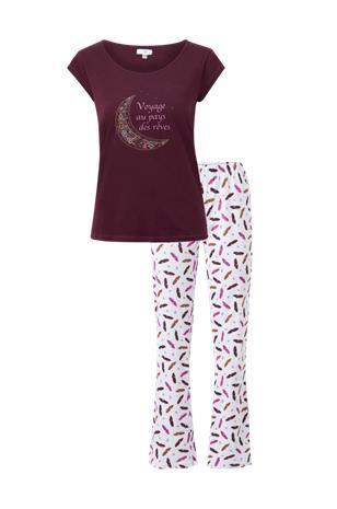 La Redoute Trikoopyjama, jossa kuvio unisiepparista ja höyhenistä