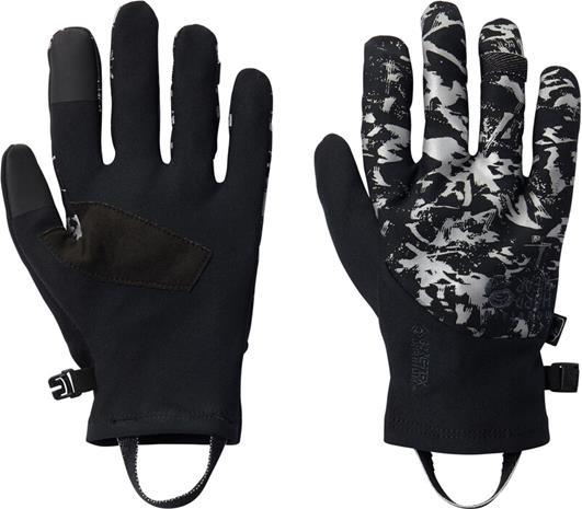 Mountain Hardwear WindLab Gore-Tex Infinium Stretch Gloves, black reflective