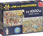Jan Van Haasteren, 2 in 1 Food Frenzy -palapeli, 2 x 1000 palaa