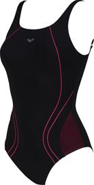 arena Miranda U Back One Piece Swimsuit Women, black/calypso
