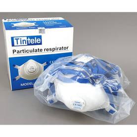 Hengityssuojain FFP3 venttiilillä 10 kpl Etuventtiilillä, kuppimalli