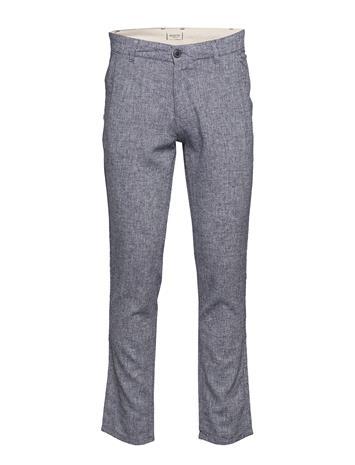 Selected Homme Slhstraight-Paris Linen Pants W DARK SAPPHIRE