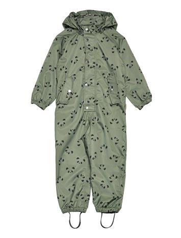 Liewood Jared Rainsuit Outerwear Rainwear Sets & Coveralls Vihreä Liewood PANDA FAUNE GREEN