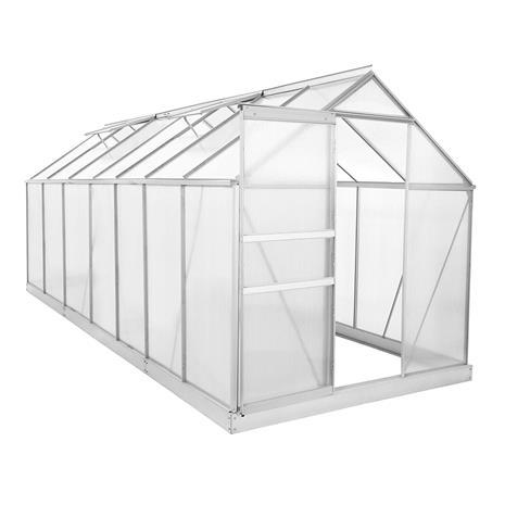 Green Land alumiinirunkoinen kasvihuone 4,8 m² musta