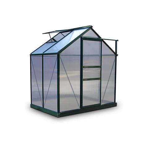 Green Land alumiinirunkoinen kasvihuone 2,3 m² musta
