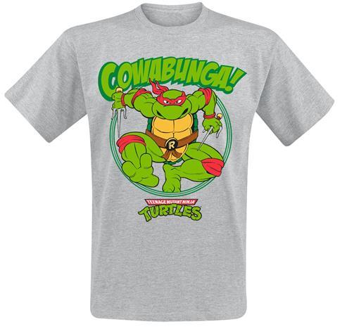Teenage Mutant Ninja Turtles - Cowabunga! - T-paita - Miehet - Sävytetty harmaa