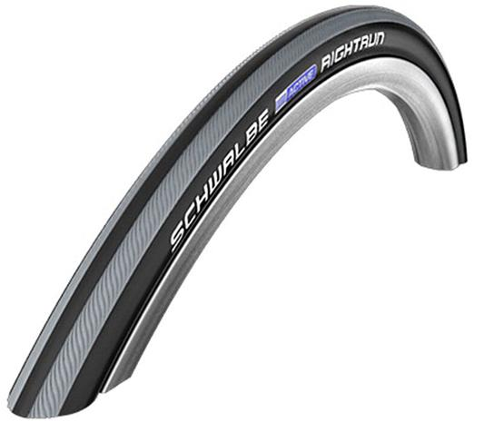 "SCHWALBE Rightrun Active Clincher Tyre 22x1.00"""" for Wheelchair, black/grey stripes"