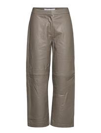 Camilla Pihl Rimo Leather Trouser Leather Leggings/Housut Harmaa Camilla Pihl TAUPE