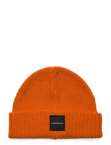 Peak Performance Volcan Hat Black Accessories Headwear Beanies Oranssi Peak Performance ORANGE ALTITUDE