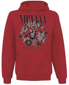 Nirvana - Heart Shaped Box - Huppari - Miehet - Punainen