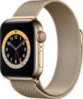 Apple Watch Series 6 GPS + Cellular kullanvärinen ruostumaton teräskuori 40 mm kullanvärinen milanolaisranneke M06W3KS/A