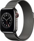 Apple Watch Series 6 GPS + Cellular grafiitinharmaa ruostumaton teräskuori 40 mm grafiitinharmaa milanolaisranneke M06Y3KS/A
