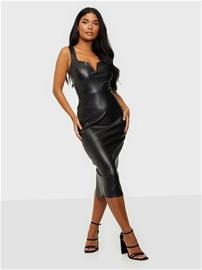 NLY One V-bar Leather Look Dress