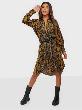Jacqueline de Yong Jdypiney L/S Below Knee Shirt Dres